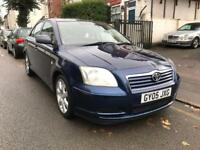 2005 TOYOTA AVENSIS T2 1.8 vvti. STARTS AND DRIVE. SPARES OR REPAIRS. ALLOYS. AC. IDEAL EXPORT.