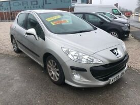 09 PEUGEOT 308 1.6 DIESEL XLS HDI IN GREY *PX WELCOME* MOT TILL MAY 2018 £1695