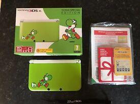 Nintendo 3DS XL YOSHI SPECIAL EDITION + extras