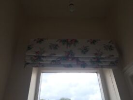 Roman Blind: White with colourful floral print - Laura Ashley fabric