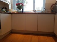 Ikea solar matt white units with intergrated diswaher and washing machine. Great condition