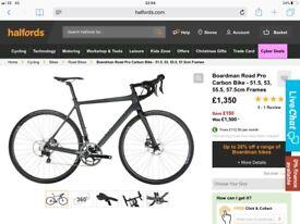 Top of the range Boardman road bike