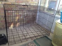 Heavy duty brown XXL dog crate