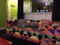 Ikea couch multicoloured xs 1