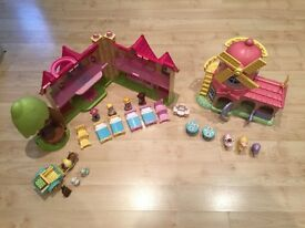 Happyland Windmill & Tree house set with characters