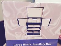 Large black jewellery box