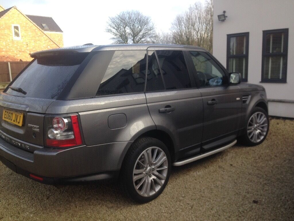 2010 range rover sport hse stornaway grey black leather. Black Bedroom Furniture Sets. Home Design Ideas