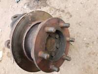 Iveco Daily double wheel hub with bearing inside.