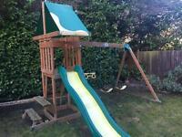 Slide swing adventure play set garden