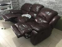 3 seater chocolate brown sofa good condition