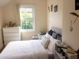 Large bright double in friendly, professional house near town centre