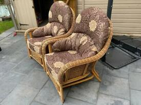 Cane conservatory chairs great and comfy