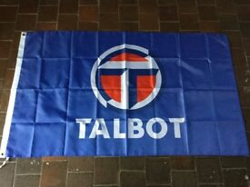 Talbot motors workshop flag banner