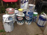 Bulk load of industrial paint epoxy forklift paint floor paint