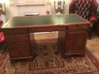 Ducal solid pine knee hole desk