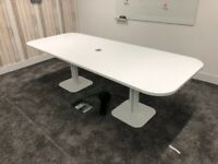 office meeting table boardroom conference white