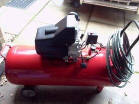 AIR COMPRESSOR 100LTR 3HP 240V IN NEW CONDITION VERY POWERFULL COMPRESSOR.