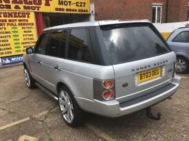 2003 RANGE ROVER VOGUE TD6 AUTO DIESEL LEATHERS 156 000 MILES FULL HISTORY