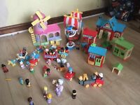 Bundle of HappyLand people, vehicles and buildings