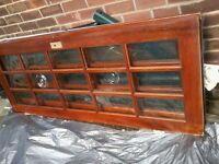 3 solid wood glazed interior doors