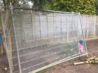 Security galvanised Wire fence panels/gates 2800w x 2000h