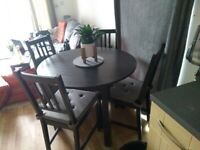 Ikea Dining Table & 4 chairs.