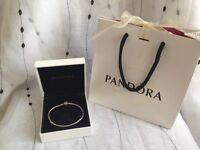 Genuine Pandora bracelet 19cm with box and bag