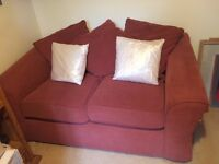 2 Seater Settee - hardly used as spare - NEED GONE ASAP - very comfy but scratched by cat