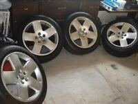 Audi A8 Fat Five Alloy Wheels fits A6, S8, B7, Golf, Passat, Bora, etc 255/45 18