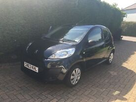 Black Peugeot 107 3dr 1.0 63 plate 29850 miles £0 road tax £4200 ONO