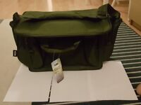 Fishing bag with tackle box.