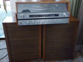 Fidelity U.A.1 stereo-tuner record player with speakers