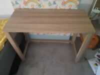 Oak effect desk / console table