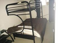 Black C- Shape metal Bunk bed / Futon