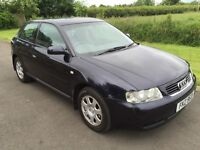 2001 Audi A3 1.6 3DR Sports Hatch 1yrs Mot very strong history 3mth warranty