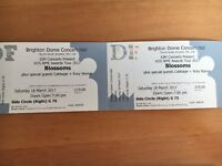 2 x Blossoms Tickets (Brighton 18th Mach) - seated