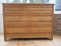 Antique Ash wood two over two chest of drawers made approximately 1880