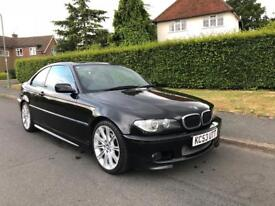 BMW 320CD M SPORT COUPE 6 SPEED MANUAL DIESEL [2004] LEATHER XENONS BLACK ONE OWNER