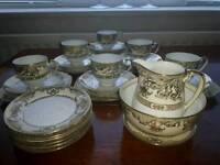 Vintage Noritake gold rimmed tea set