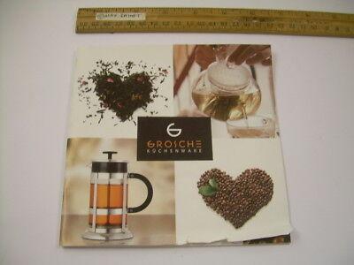 GROSCHE Kuchenware CATALOG Kitchenware Tea Pots Presses Brewing Vessels Germany