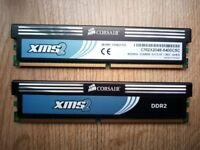 Corsair 4GB (2GB x 2) XMS2 CM2X2048-6400C5C 6400 DDR2 240 PIN 800MHz 5-5-5-18