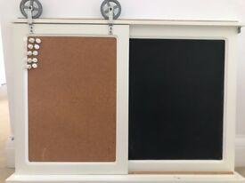 Notice Board 2 in 1, cork and chalk notice board