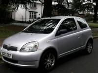 TOYOTA YARIS 1.0L T3 59800 WARRANTED MILES 1LADY OWNER FROM NEW 15 SERVICES MOT TILL28/8/2018