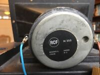 RCF 12 inch mid range speaker 150 watts housed in a cabinet with horn