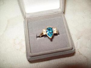 BLUE ICE RING - Ladies Size 7