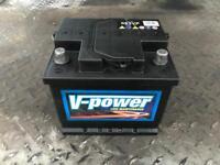 Small used car battery V-Power low maintenance 063VP 12V