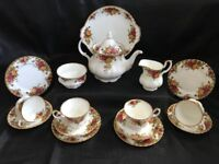 Royal Albert 'Old Country Roses' tea set / tea service 1 st quality, 16 pieces
