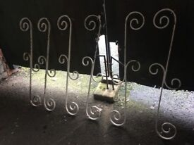Set Of 10 Vintage Wtought Iron Spindles call for info