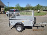 Near new Ifor Williams drop down cage trailer 6ft x 4ft 500 kgs capacity