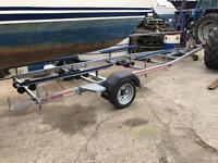 Sbs single axle braked bunked boat trailer